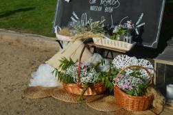 Decoración de boda en el campo